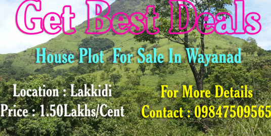 10 Cent House Plot  for Sale at Lakkidi, Wayanad