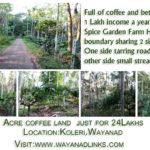 1 Acre Land for Sale at Koleri near Spice Garden Farm House Wayanad