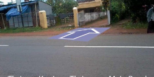 14 cent residential land with compound wall for sale in Arimpur, Thrissur