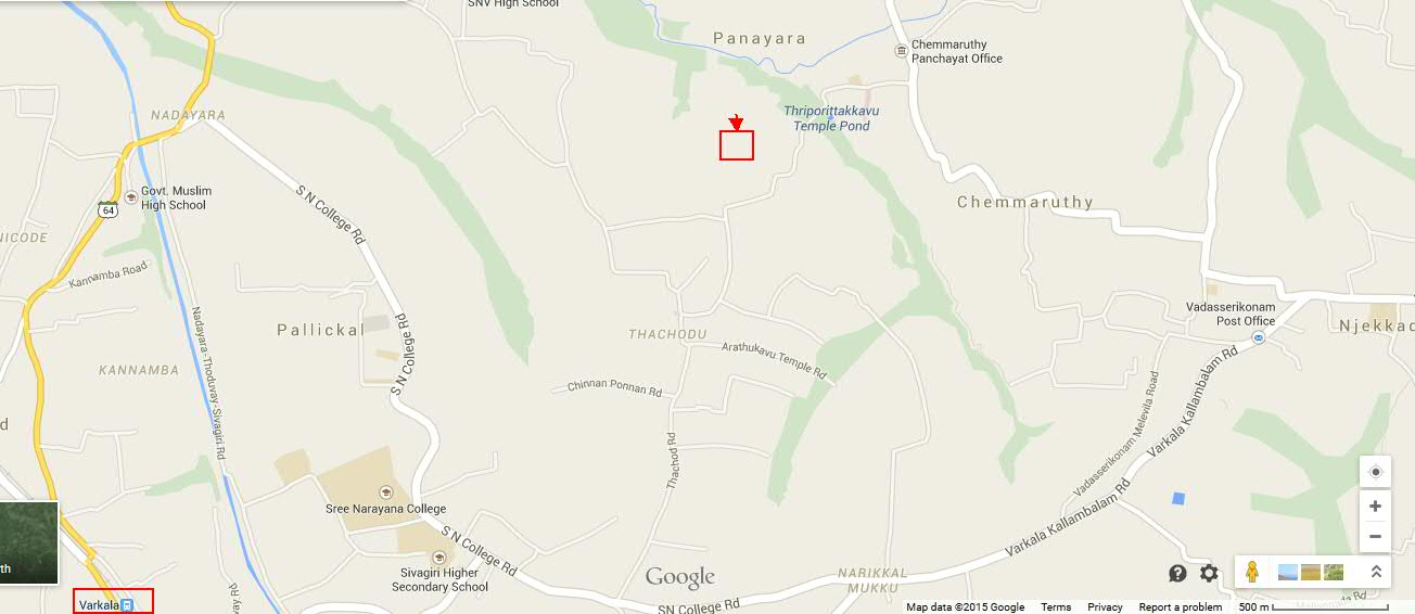 Residential Plot for Sale Near Varkala in Panayara, Thiruvananthapuram