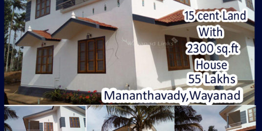 New Double Storied House for Sale at Mananthavady, Wayanaad