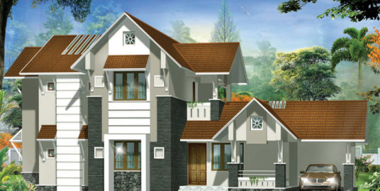 2650 Sqft 4 Bedroom Spacious Villa for Sale at Mookkannoor, Angamaly, Kochi