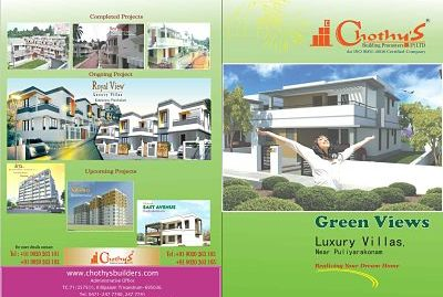 Chothys Green Views 3BHK and 4BHK Villas for Sale  at Puliyarakonam, Trivandrum