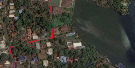 12.65 Villa Plot For Sale at Nellumuku, Kollam With View of Ashstamudi River