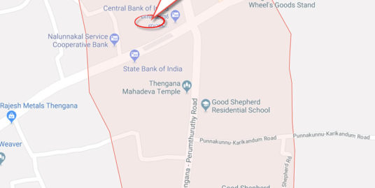 28 Cent Square Plot  For Sale in Thengana, Kottayam