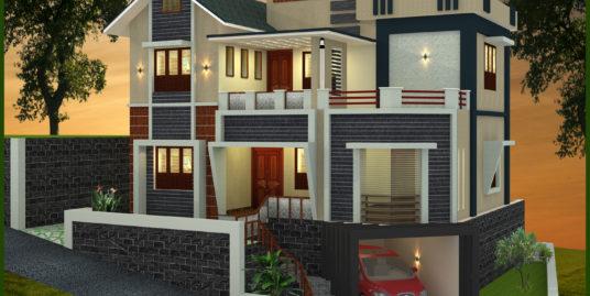 3 Bedroom Villa House For Sale in Greenline Springfield at Pottammal, Kottooli Kozhikode