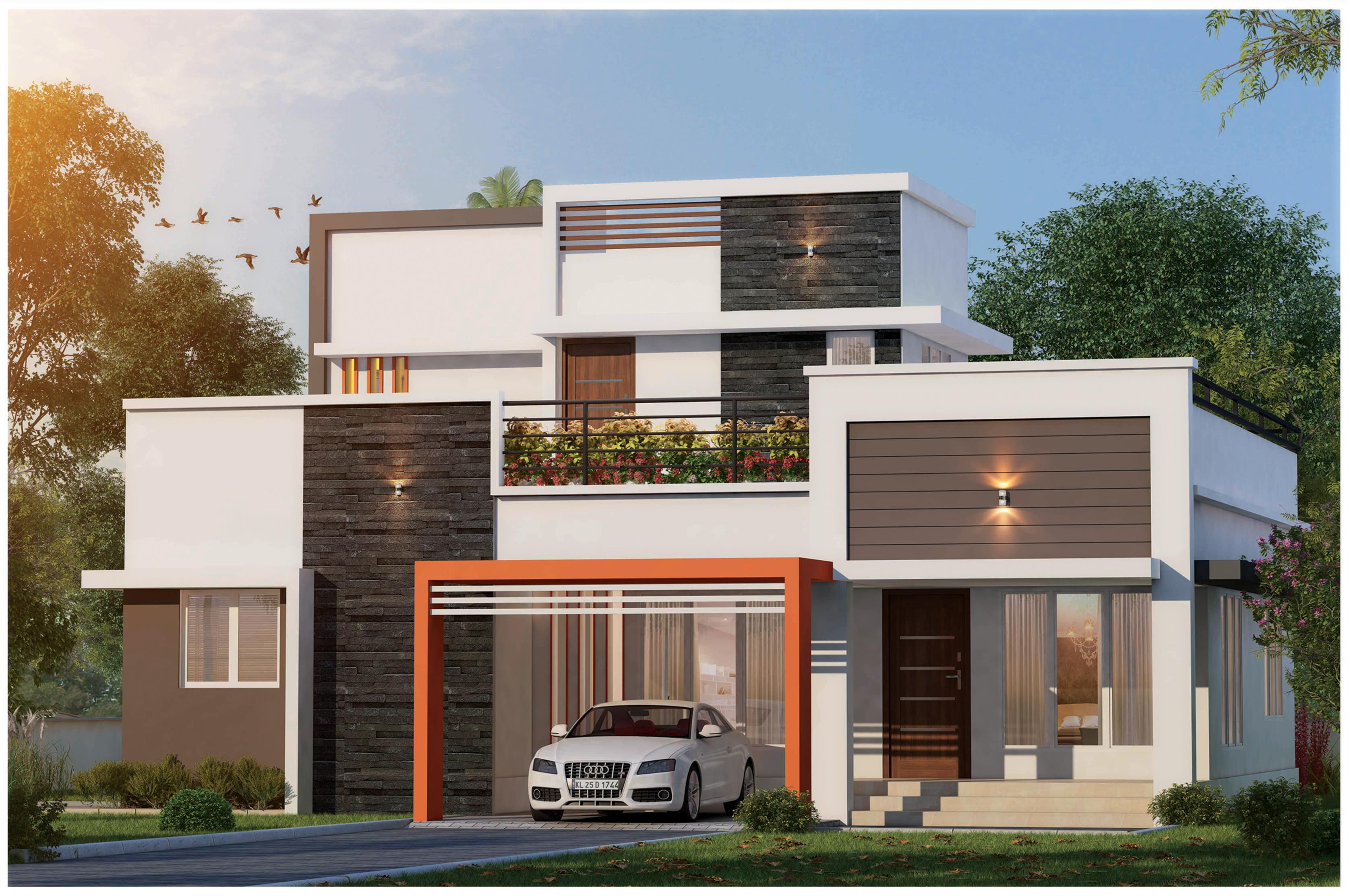 4 BHK 4 Bathroom 2500 Sqft Villa projects in Thrissur | Best builders in thrissur