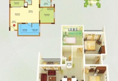 Abad Ebony Estate 3 BHK Appartment for Sale at Kizhakkambalam, Kochi