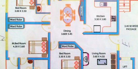 Sale of 3 Bedroom Apartment in Arunodayam Heritage, Angamaly, Kochi