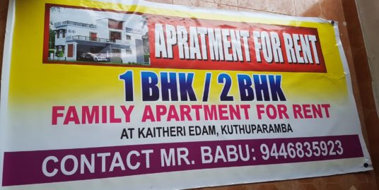 Newly constructed 2 Bedroom Hall Kitchen apartment For Sale at Kaitheri Edam, Koothuparamba, Kannur