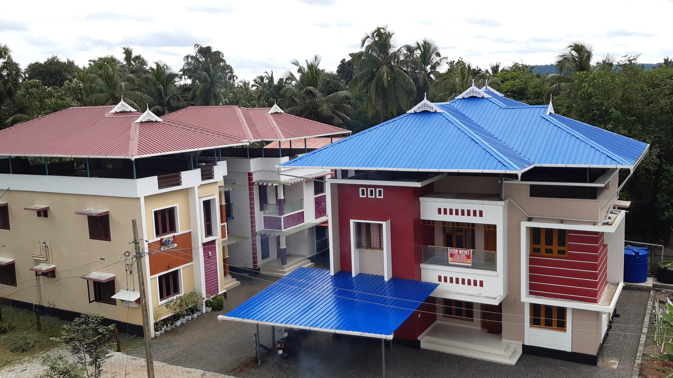 For rent Furnished 1/2/3 Bhk Villas at Trichur Govt Medical College( MG Kavu)