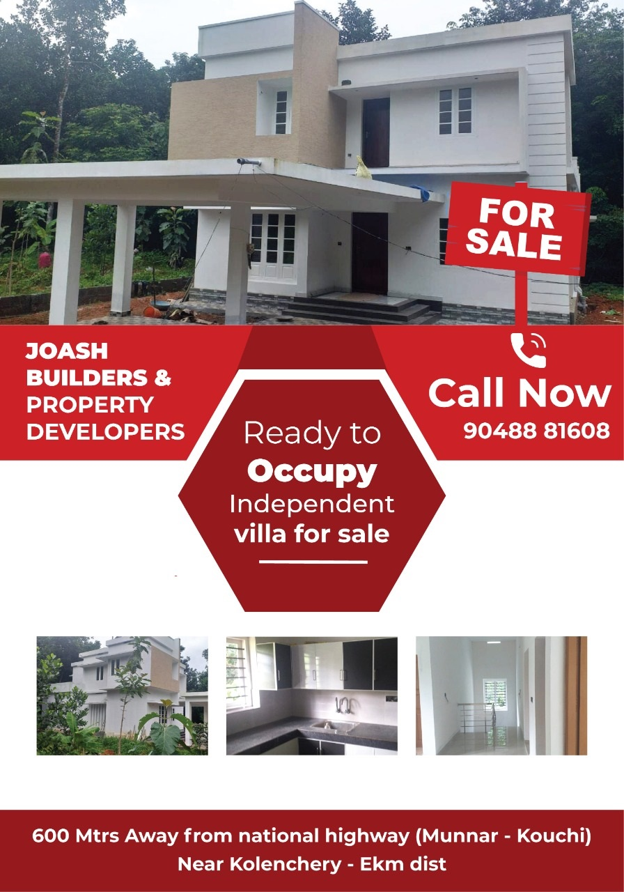 Recently Constructed Independent Villa For Sale at Kolenchery