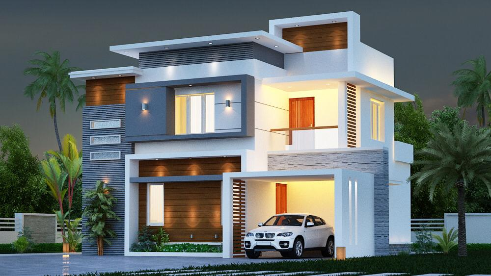 4 BHK Premium villas for sale at Amala Nagar, Thrissur