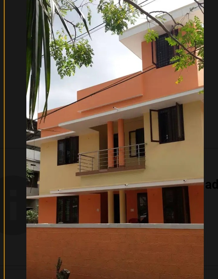 Furnished House for rent in Thrissur town close to PC Thomas coaching centre.